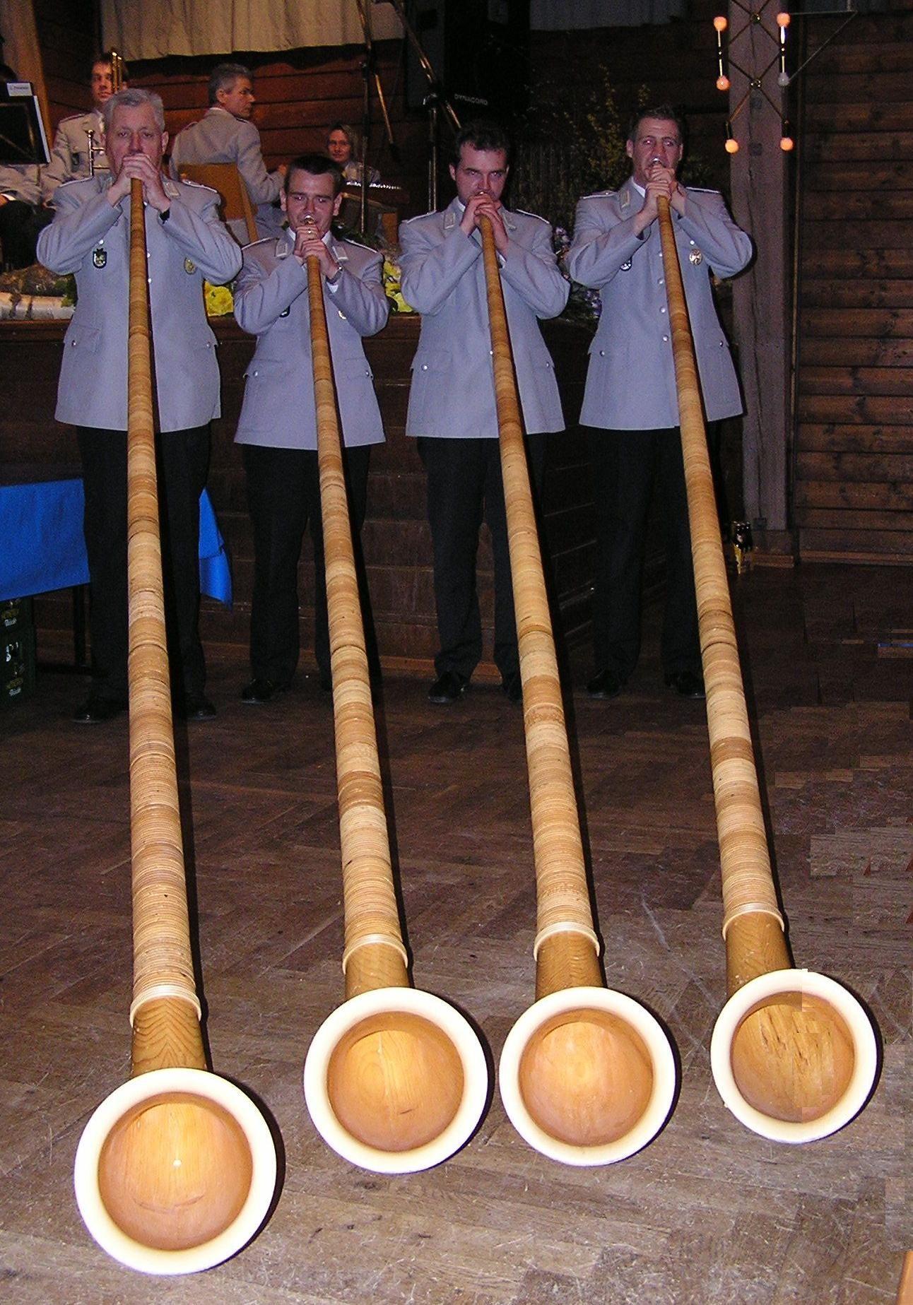 Alphorn Quartett des GMK Garmisch-Partenkirchen